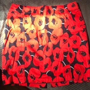 Poppy flower skirt